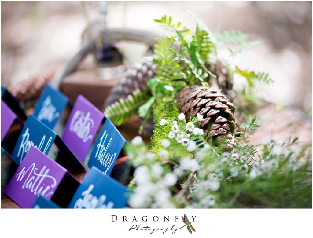 Dragonfly Photography Lifestyle Wedding and Portrait Photography Woods Wedding Handlettered Seating Cards Insperation_0014