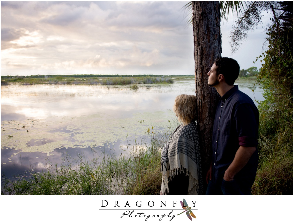 Dragonfly Photography Lifestyle Wedding and Portrait Photography, Woods and Beach Engagement Photos