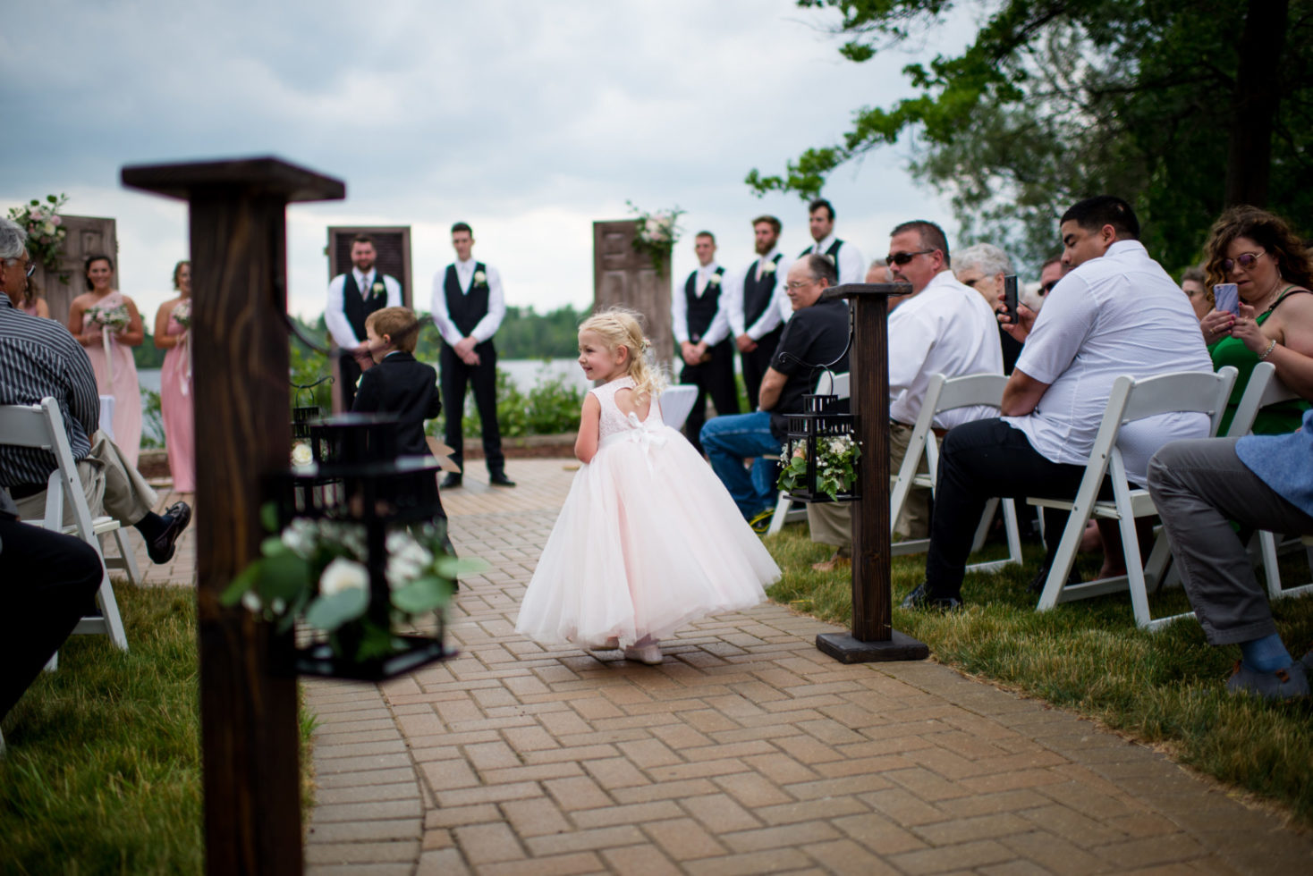 Cleveland Wedding Photography Flowergirl Outdoor Wedding Photo