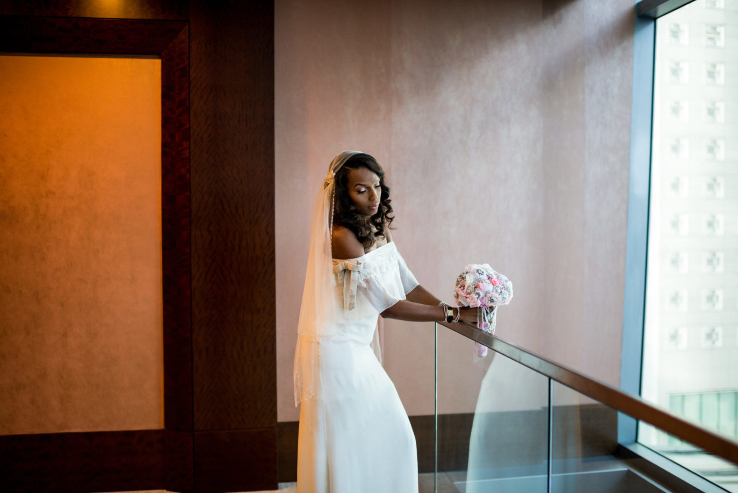 Cleveland Wedding Photography Bride Hotel Photo