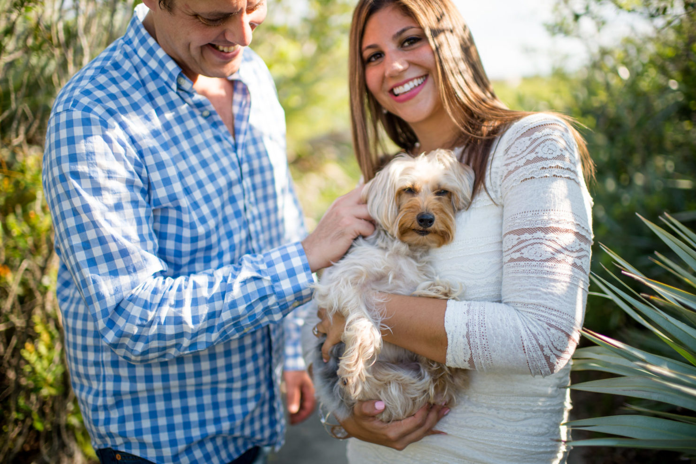 Cleveland Wedding Photography Engagement with Dog Photo