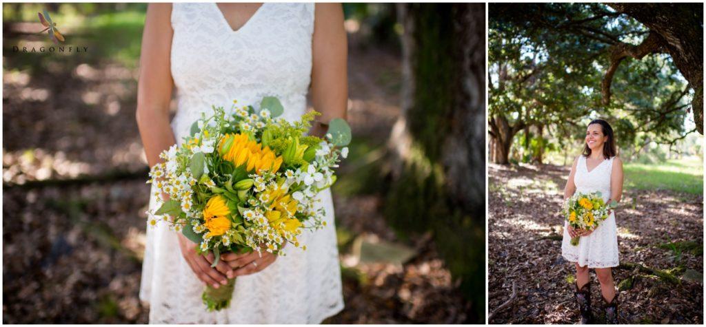 Rustic Elopement Portrait and Flowers