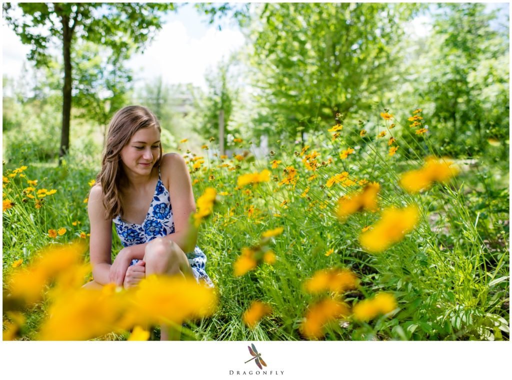 Field of Flowers Senior Picture