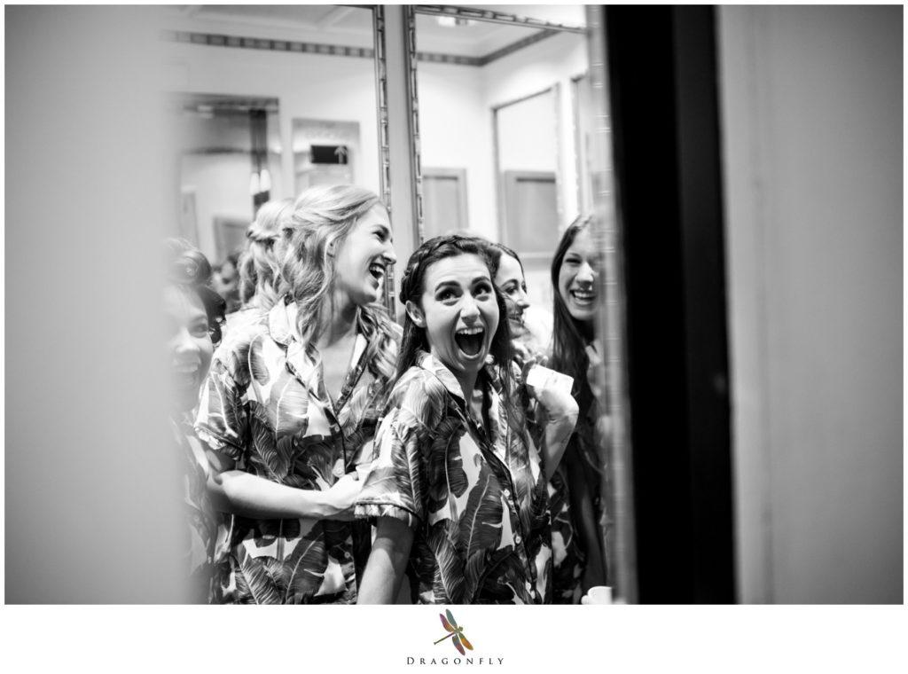 Editorial Wedding Photo of Girls Laughing