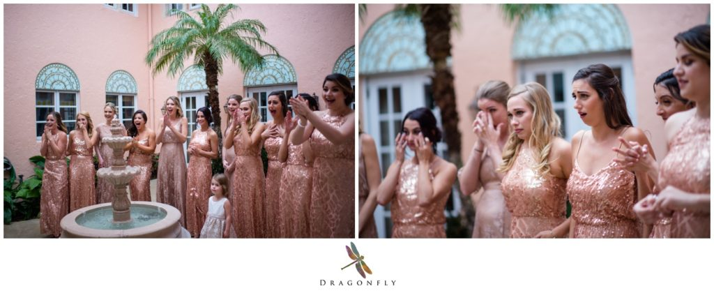 First Look with Wedding Bridal Party Dragonfly Photography