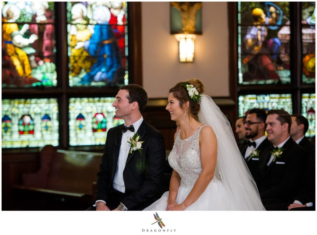 Bride and Groom at St Annes Catholic Church West Palm Beach