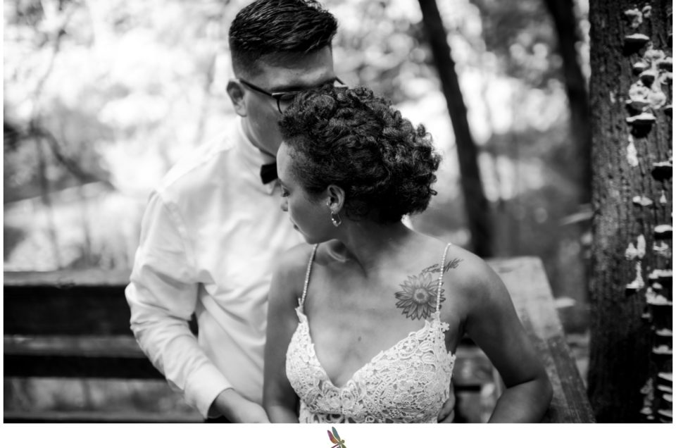 Black and White Wedding Photo Dragonfly Photography