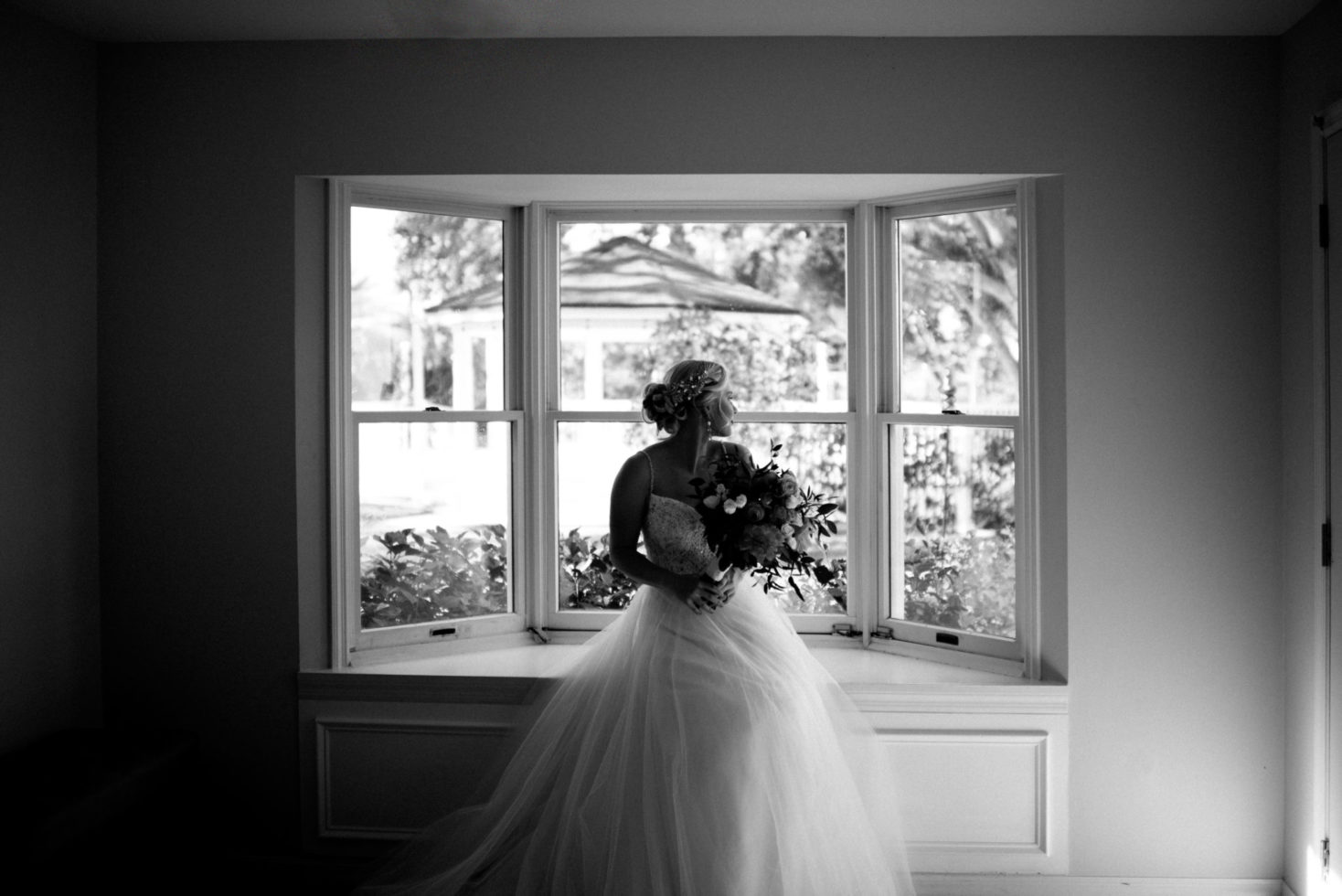 Cleveland Wedding Photography Black and White Bridal Photo