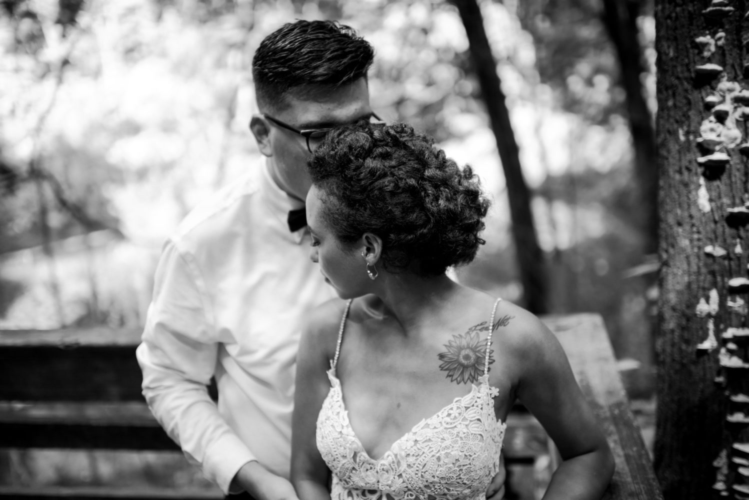 Black and White Elopement Photos