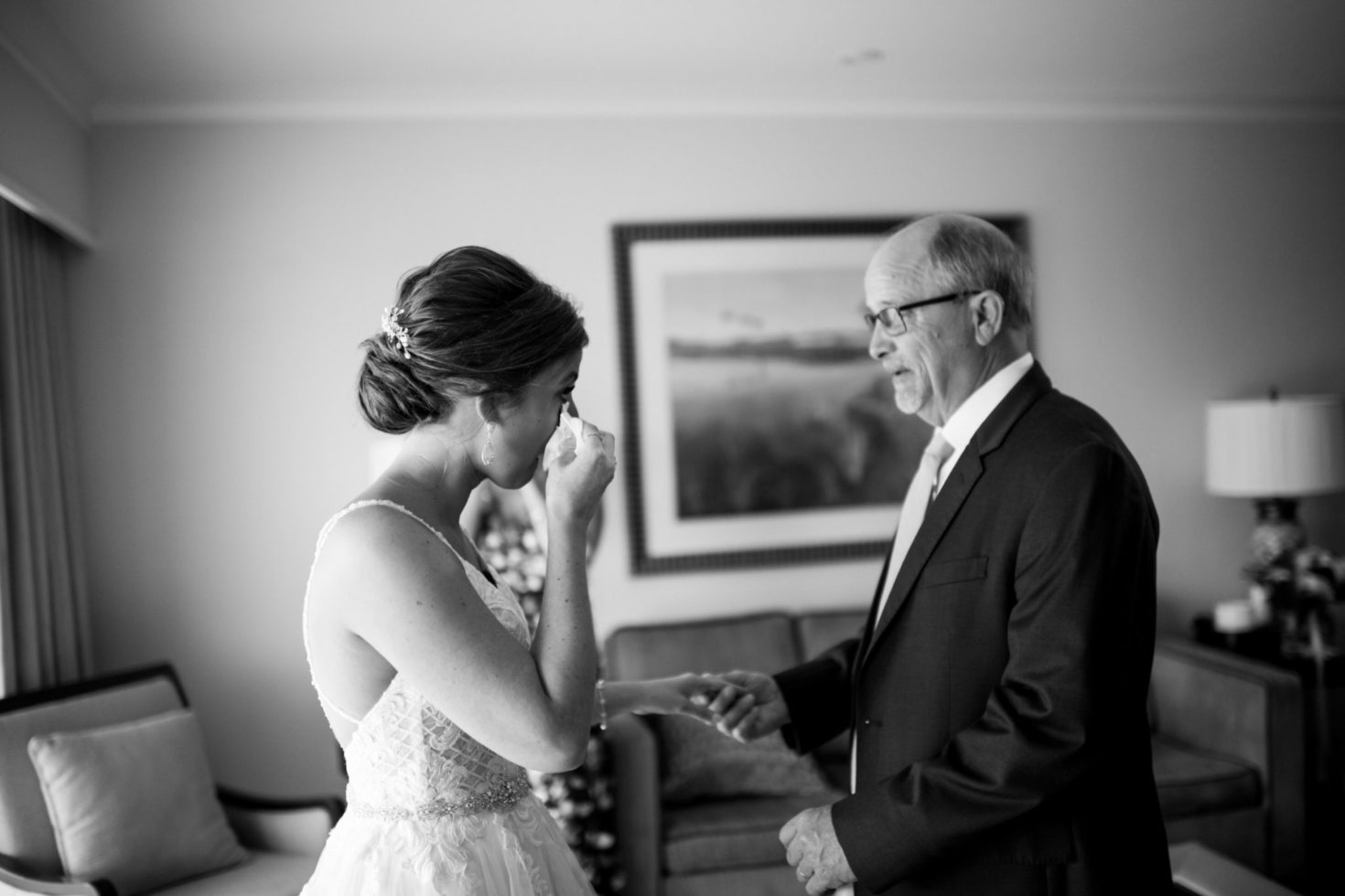 Cleveland Wedding Photography First Look with Dad Photo