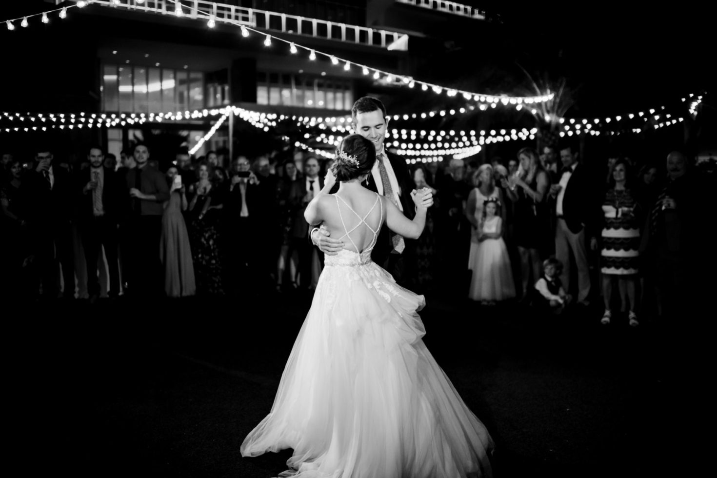 Cleveland Wedding Photography Black and White Dance Photo