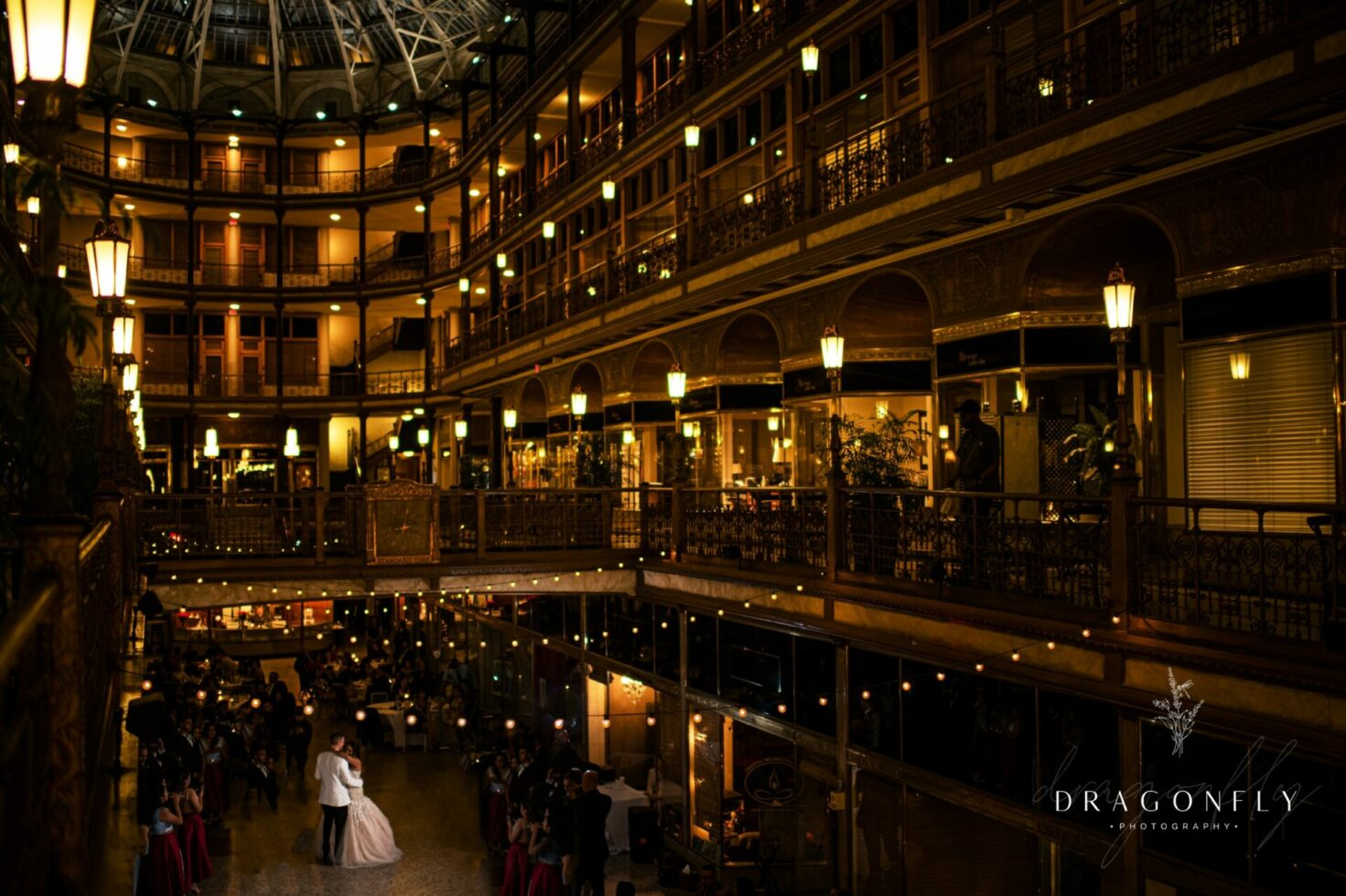 Bride and Groom First Dance at Cleveland Archade Wedding