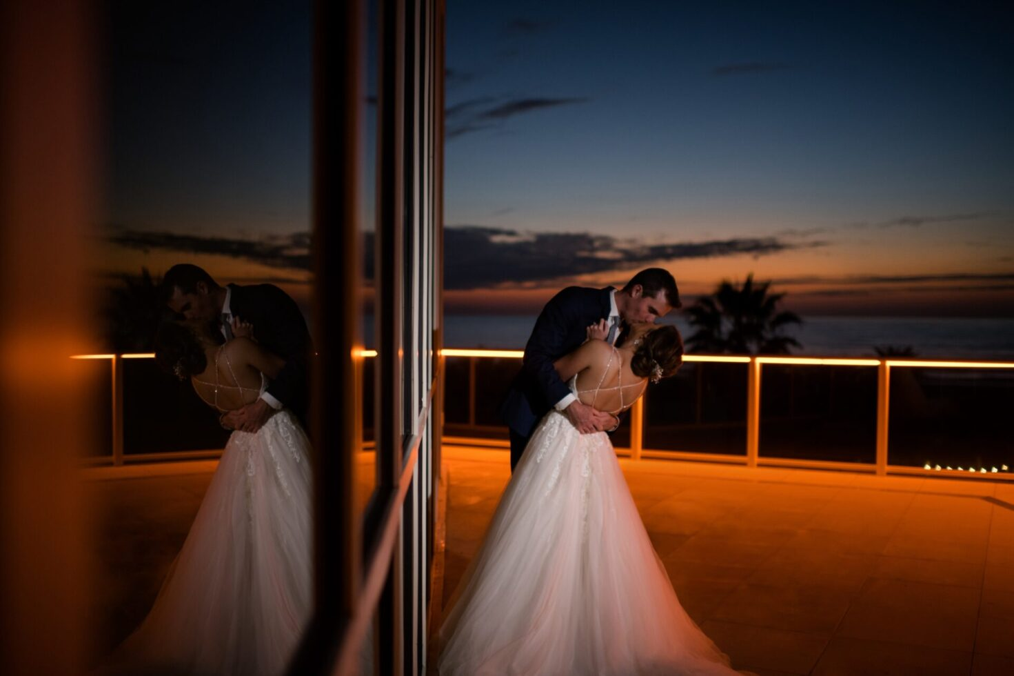 Marriott Rooftop Sunset Wedding View Photo