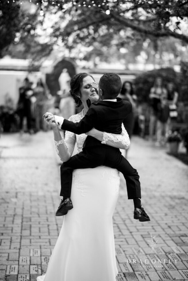 Bride and Son emotional first dance photo