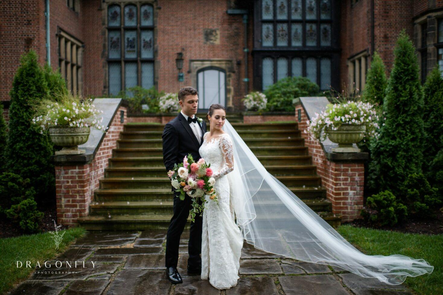 classic bride and groom stan hywet wedding