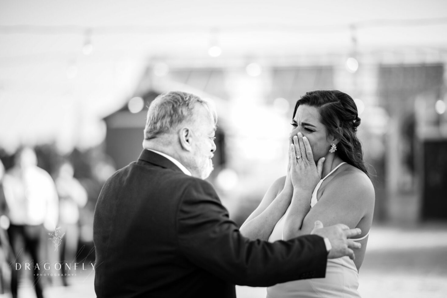 Emotional father daughter dance at Rural Society at Warwick Farm