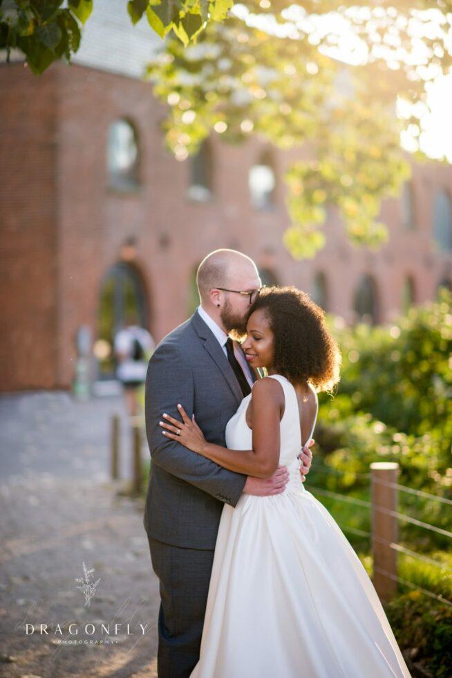 bride and groom dumbo micro wedding