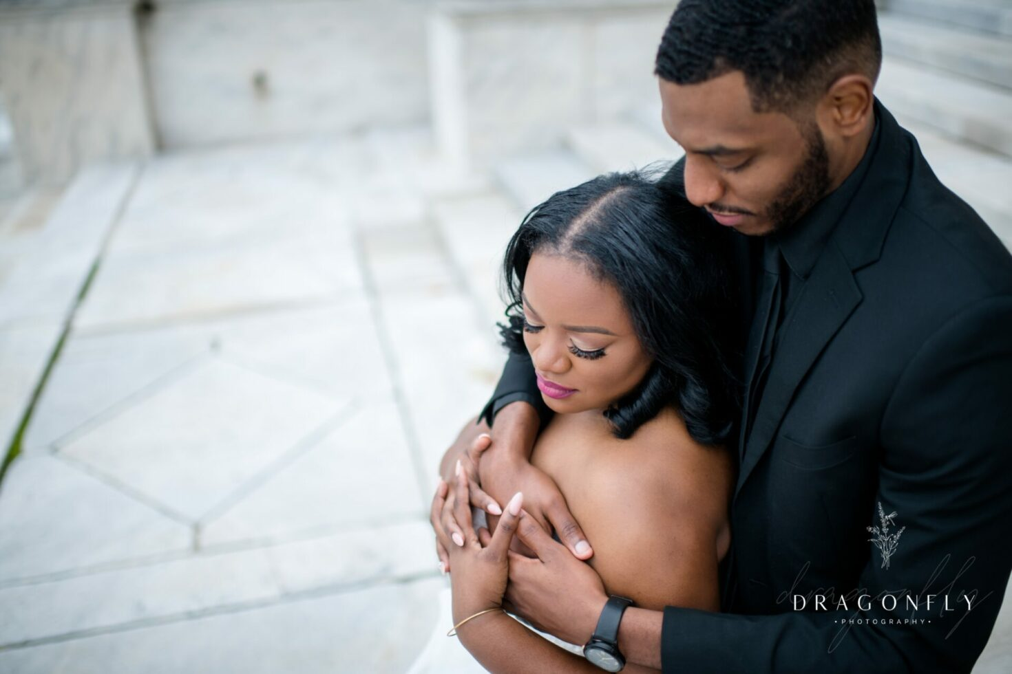black bride and groom at cleveland museum of art
