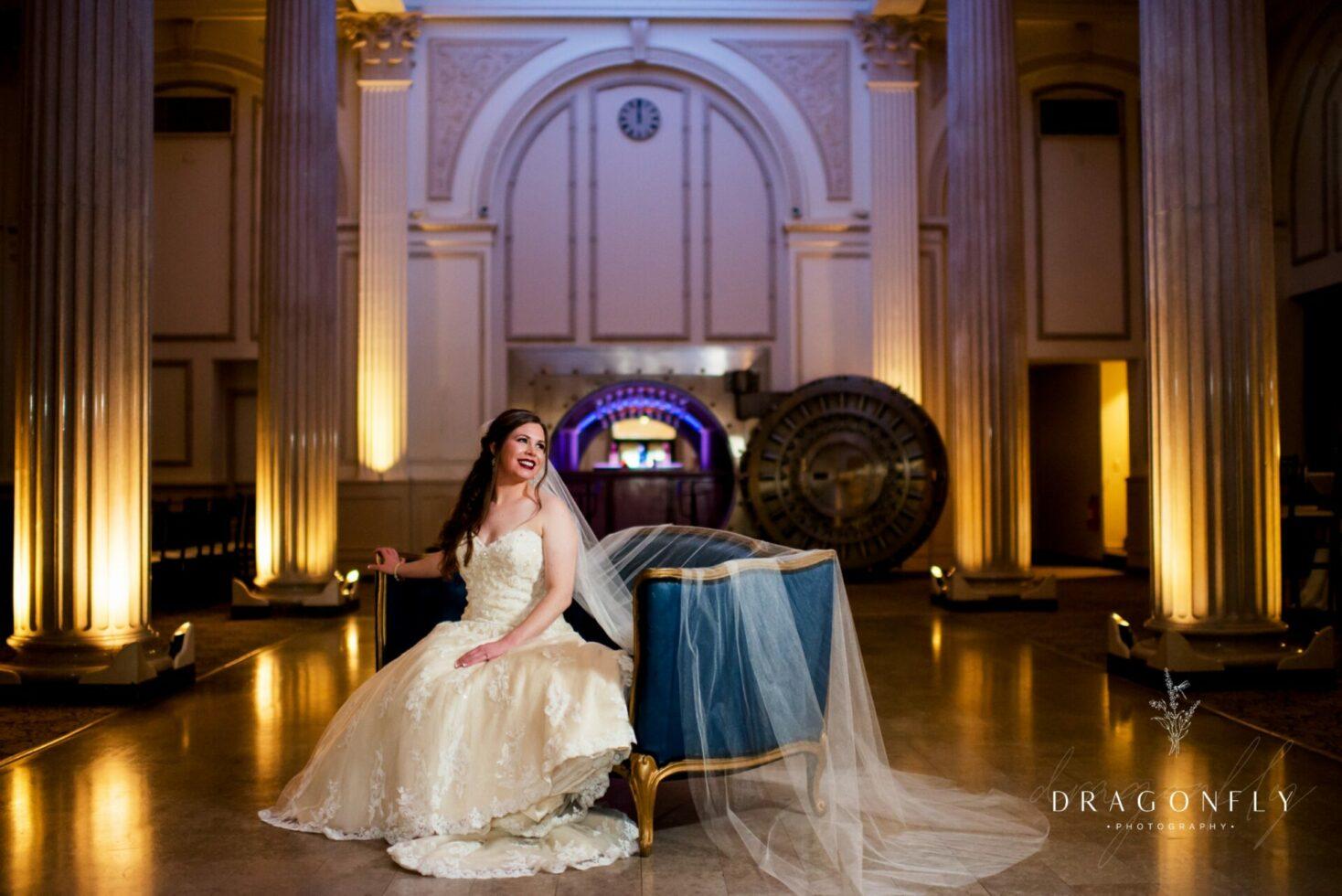 bride portrait in Vault