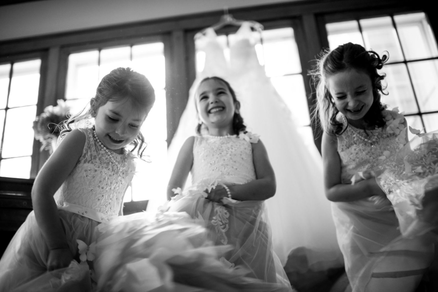 Cleveland Wedding Photography Flowergirl Fun Photo