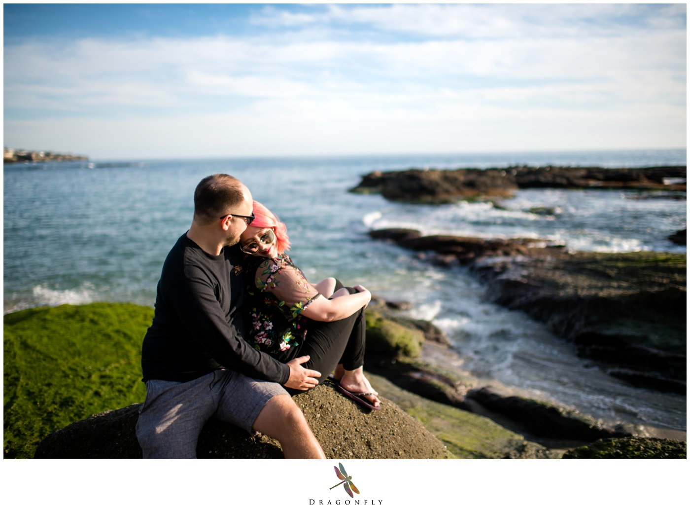 Laguna Beach Engagement Session Ocean View Photo