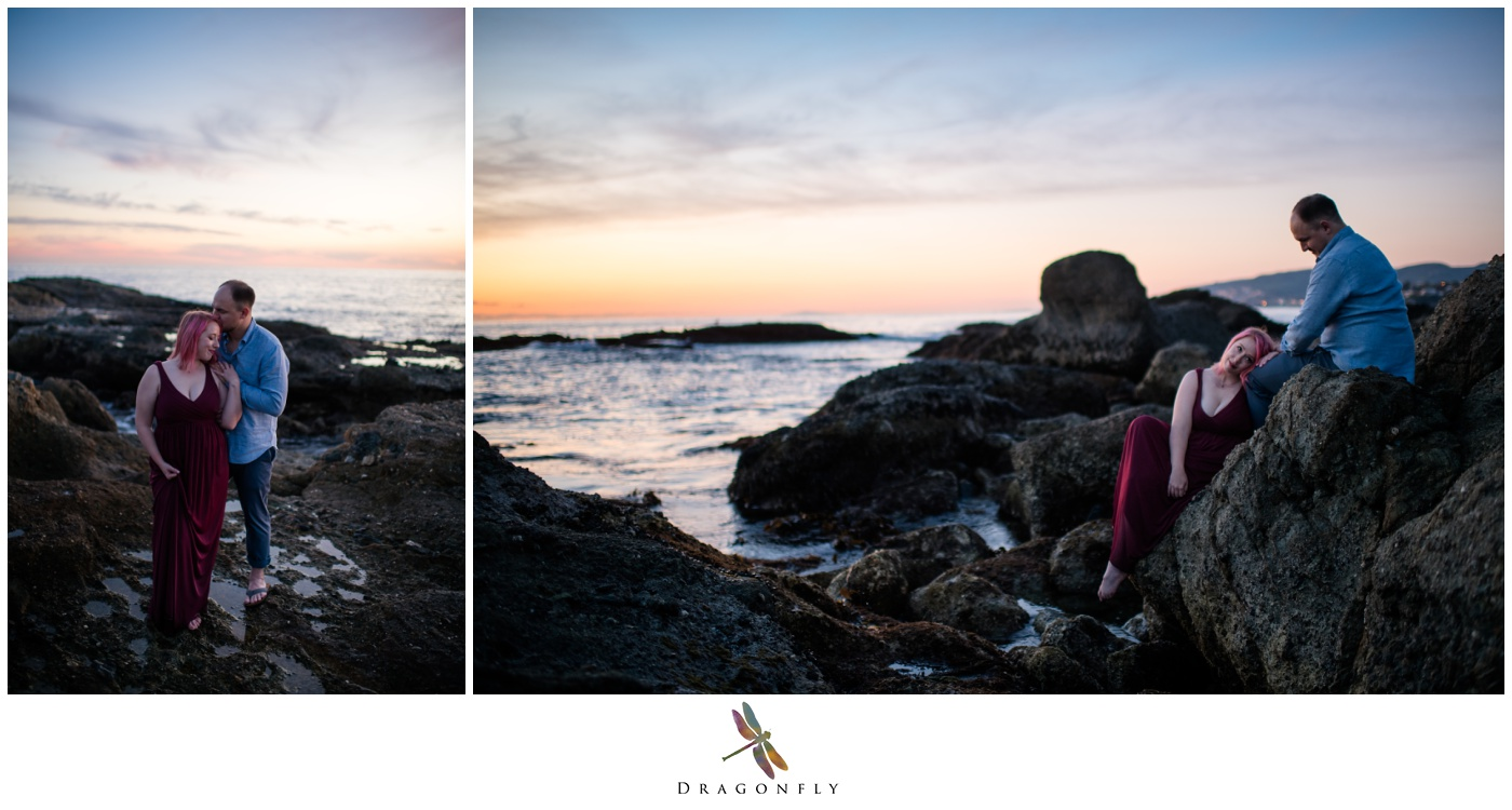 Sunset at The Montage Laguna Beach Engagement Photos