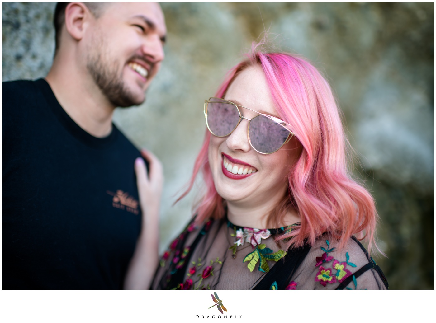 Laughter at Engagement Session