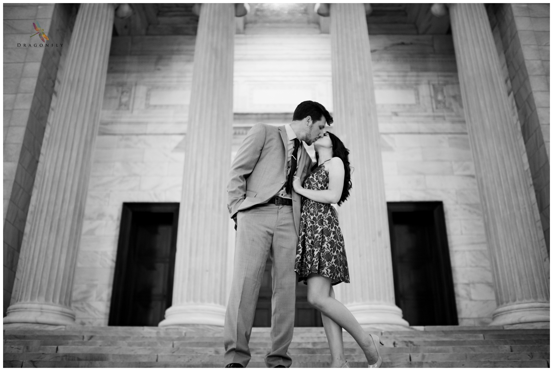 black and white cleveland museum of art engagement photo